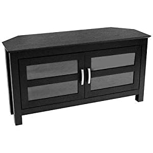 Wood Home Classic Large Corner TV Stand Home Entertainment Media Center Flat Screen TV Table Wooden Storage TV Cabinet Durable Living Room Furniture 52""