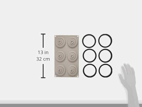 100% Platinum Silicone - 3D Mould -Kit Mini Tarte Twist by Silikomart (Image #5)