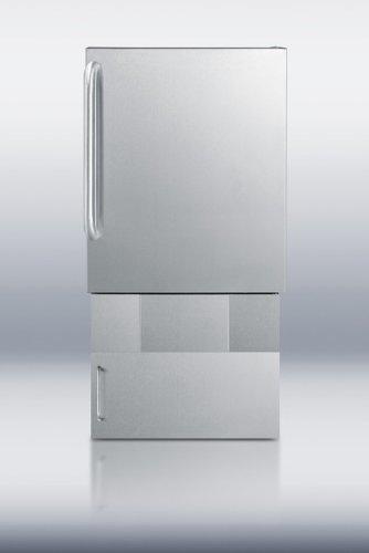 Summit Stainless Steel Outdoor Refrigerator (Summit BIM24OSBase34 cemaker, Stainless Steel)
