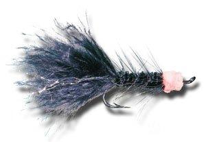 Egg Sucking Leech - Black Fly Fishing Fly - Size 6 - 3 Pack