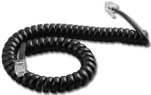 Polycom SoundPoint 9 ft. Black Handset Cord For IP 301, 501, 601, 670, 321, 331, 335, 450, 550, 560, 650 Phones (Voip Handset Phone Telephone)