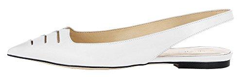 MONICOCO - Zapatos con correa de tobillo Mujer Blanco - blanco