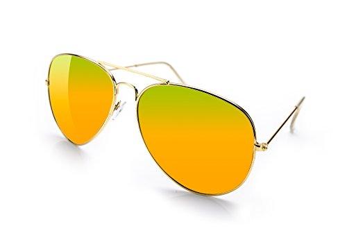 hombre sol Gafas de para 4sold Naranja qA1FxCw
