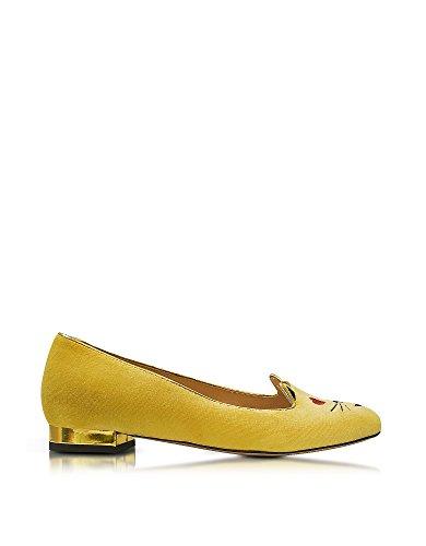 charlotte-olympia-womens-v009729725-yellow-velvet-flats