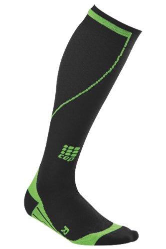 CEP calcetines para hombre calcetines de esquí alpinismo endurance, coloures: negro Green;Tamaños: 32-38 cm=tamaño III