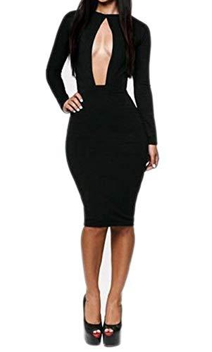 Negro Clubwear Color Party Vendaje Bustier Larga Mujeres Haokan Manga 6 Vestido Ouchi del Evening tamaño 8 Sexy n7qzvwO4