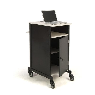 Oklahoma Sound PRC-400 Jumbo Presentation Cart, 33'' Length x 21'' Width x 40'' Height, Ivory Woodgrain by Oklahoma Sound
