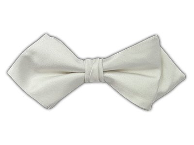 The Tie Bar 100% Woven Silk Black Solid Satin Boys Clip-on Bow Tie