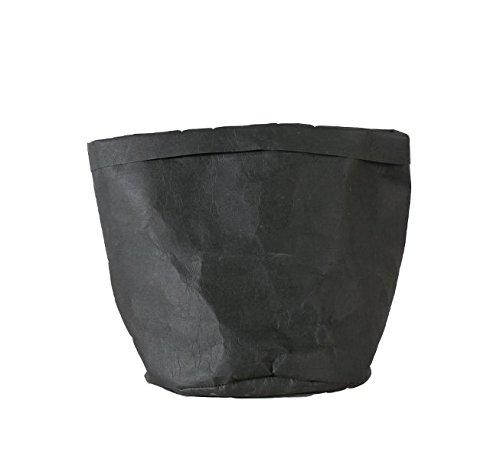 CJDDPO Borsa Di Stoccaggio Della Pelle Bovina Può Pulire Sacchetto Di Carta Sacchetto Di Carta Multiuso Creativo Stile Nordico Creativo Sacchetto Di Carta Multiuso,Black,12 * 12 * 23Cm