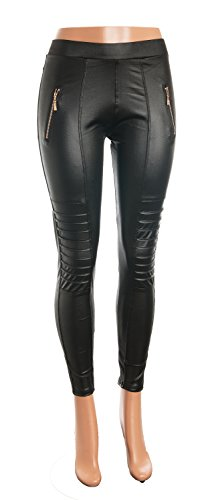 Celik Leggings Collection - Faux Leather-Show Curves in Leather-L/XL