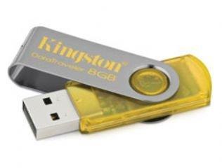 - Kingston DataTraveler 101-8 GB USB 2.0 Flash Memory DT101Y/8GB (Yellow)