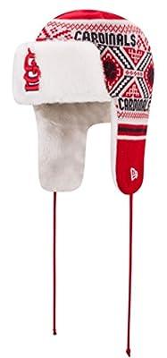 "St. Louis Cardinals New Era MLB ""Festive Trapper"" Fur Lined Knit Hat"