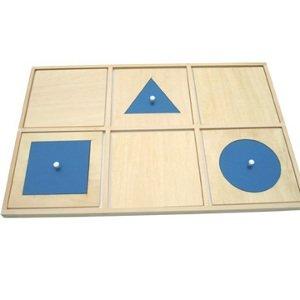 Montessori Bandeja de Demostracion Geometrica para Ajustar Figuras Sensorial