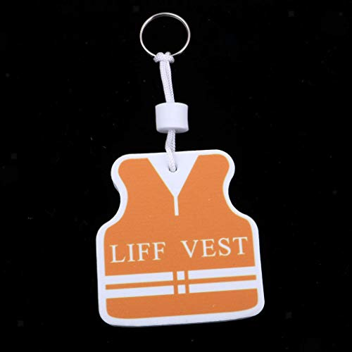 NATFUR Portable Floating Various Shapes Keyring Floatable Keychain Yacht Boat Float Pretty Novelty Key-Chain Pretty Novelty Great Fine | Color - Vest White Orange