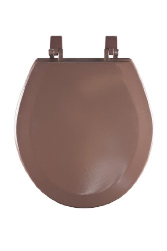 (Achim Home Furnishings TOWDSTCH04 17-Inch Fantasia Standard Toilet Seat, Wood Chocolate)