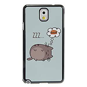 JJE Dreaming Cat Pattern Aluminum&Plastic Hard Back Case Cover for Samsung Galaxy Note3 N9000