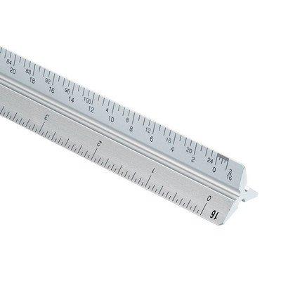 Alvin 2200M-6 30cm Aluminum Metric Triangular Scale