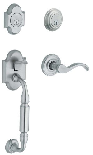 - Baldwin 85305.260.LDBL Canterbury Sectional Trim Left Hand Handleset with Wave Lever, Chrome