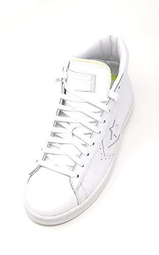 Pl Converse Mid black blanco 76 blanco egret Black Zapatilla Blanco H5d7qH