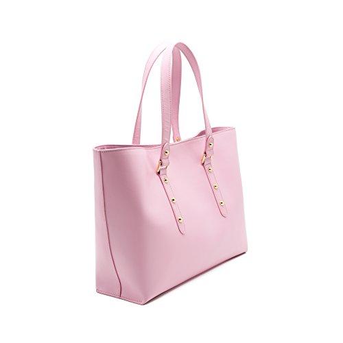 rosa cuoio unica Tote MANSUVIL donne borsetta borsa cuoio qzX40R