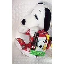 Peanuts SNOOPY PLUSH Bean Bag KOHL'S Kohls RED CHRISTMAS PAJAMAS