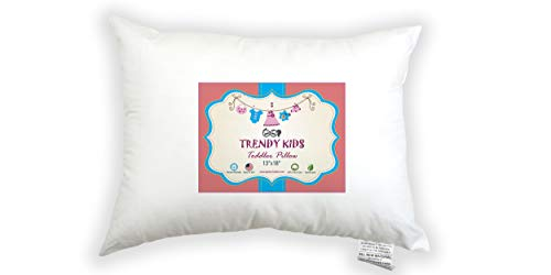 Trendy Kids 13x18 100% Cotton Toddler/Travel Pillow 300TC - No Extra Pillowcase/Sham Needed - Machine Washable and Hypoallergenic, Perfect for Kids, Infant from Trendy Kids