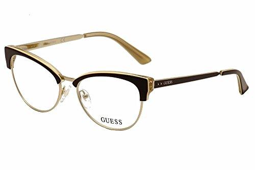 Guess - GU2552, Cat Eye, metal, women, DARK BROWN GOLD(050 B), - Frames Optical Guess