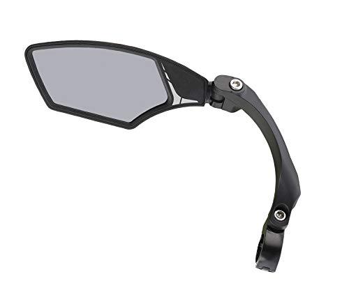 MIRAGE E-bike en fiets achteruitkijkspiegel met licht getint glas, verstelbare spiegel met klem, draaibaar, lichtdonker…