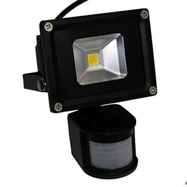 ZQ Character design LED 10W Motion Sensor Floodlight Black Shell Aluminum 220V , White by Waterproof lamp ZQ (Image #2)
