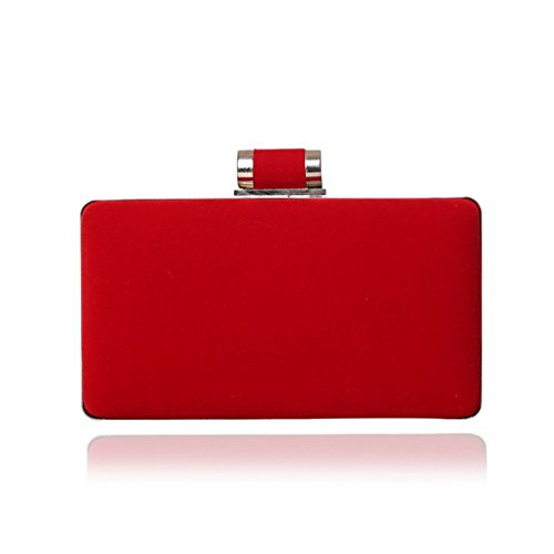 Small Ym1053red Wedding Bags Evening Dinner Candy Bag Mixed Velvet Color Party Clutch HxwSHFa