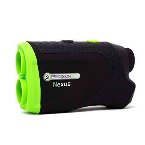 Precision Pro Golf - Nexus Golf Rangefinder Black - Laser Golf Range Finder Accurate to 1 Yard, 400 Yard Range, 6X Magnification, Carrying Case