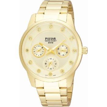Pulsar Reloj analogico para Mujer de Cuarzo con Correa en Acero Inoxidable PP6074X1
