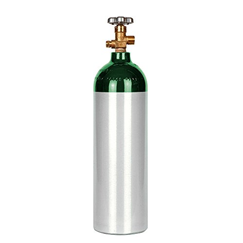 New 22 cu ft Aluminum Oxygen Cylinder with CGA540 (Steel Oxygen Cylinders)