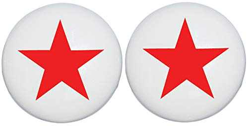 (Two Red Nautical Star Drawer Knobs Ceramic Dresser or Cabinet Handle Pulls Children's Nursery Decor (Set of Two))