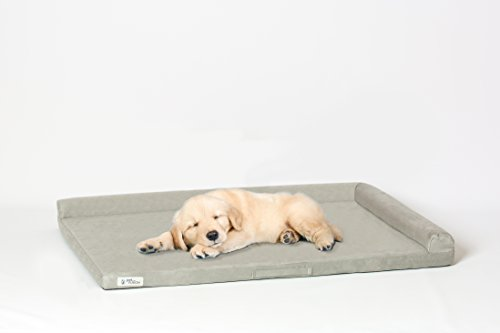 PetFusion PuppyTough Dog Crate Bed [NEW] with Waterproof solid foam liner & removable washable cover (40x27). Puncture & scratch resistant