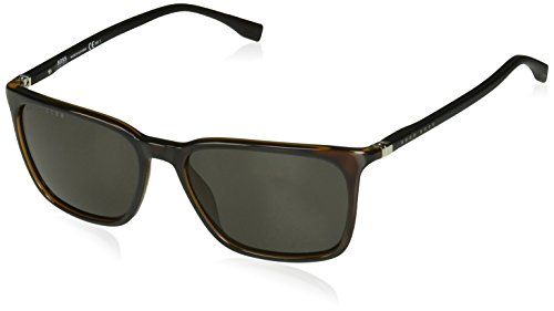 BOSS by Hugo Boss Men's Boss 0959/s Rectangular Sunglasses, DKHAVANA, 56 ()