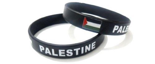 Palestine Unisex Silicone Bracelet Multicolor Country Flag Rubber Sport Fashion Wristband Cuff 8 Inches 20.2 Cm (Country Flag Silicone Bracelets)