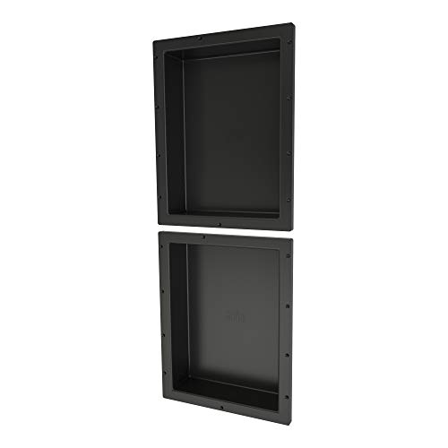"Tile Redi USA RND1620S-20 Redi Niche Dual Shelf with 20"" H Inner Shelf, 16"" W x 40"" H"