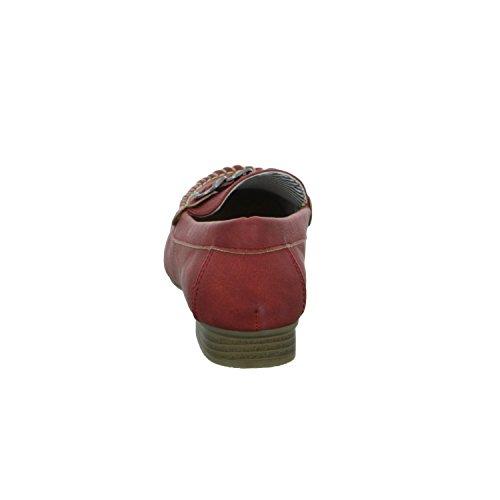 Alyssa A509-19 Damen Slipper Halbschuh Rot (Rot)