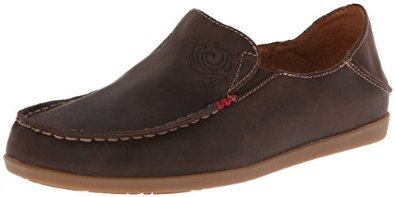 OluKai Women's Nohea Nubuck Dark Java/Tan 8 B - Medium by OluKai