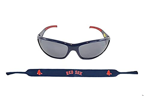 Official Major League Baseball Fan Shop Authentic Sunglasses and Neoprene MLB Team Strap. Enjoy tailgating and the Game in the Sun with cool specs (Boston Red - Boston Red Sox Authentic Game