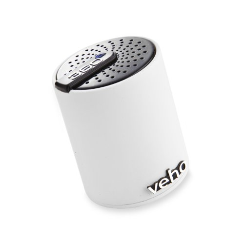 Veho VSS-007-360BT Tragbarer 360 deg. Bluetooth Lautsprecher für Apple iPhone/Handy/Laptop/Netbooks/Bluetooth-Geräte weiß
