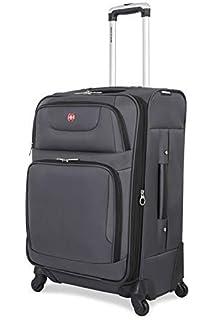 193f7bdb61ae Amazon.com | SwissGear Spinner Luggage Collection Gray 20