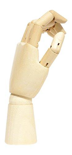 """Jack Richeson 710220 12"""" Left Hand Male Manikin"""