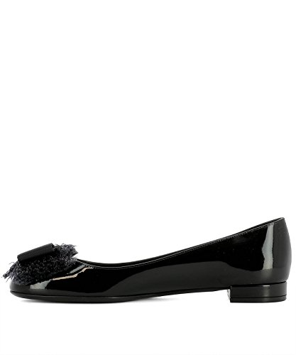 Women's Flats Leather 0678103 Salvatore Black Ferragamo Ox8qwF5Y5