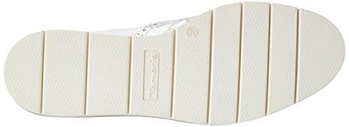 Tamaris 24305, Mocasines para Mujer Blanco (WHITE COMB 197)