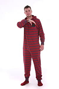 Footed Pajamas Funzee Adult Onesie Red Purple Jumpsuit XS-XXL - Size on Height