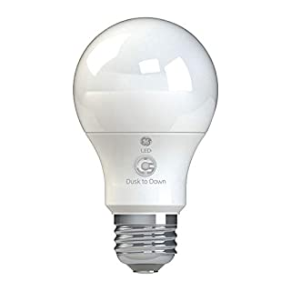 GE Lighting 93101946 LED+ Dusk to Dawn Outdoor Light Bulb A19 with Built-In Sensor, 60-Watt Replacement, Soft White