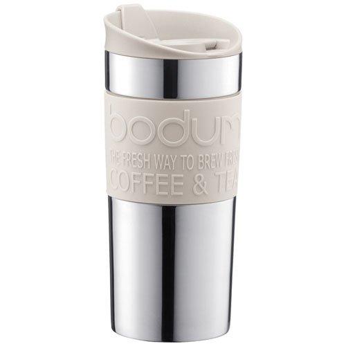 Bodum Vacuum Travel Mug, Small, Stainless Steel - Off White