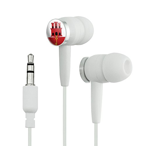Price comparison product image Gibraltar Flag Novelty In-Ear Earbud Headphones - White
